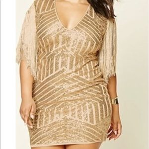 Plus size gold flapper dress. Never worn.